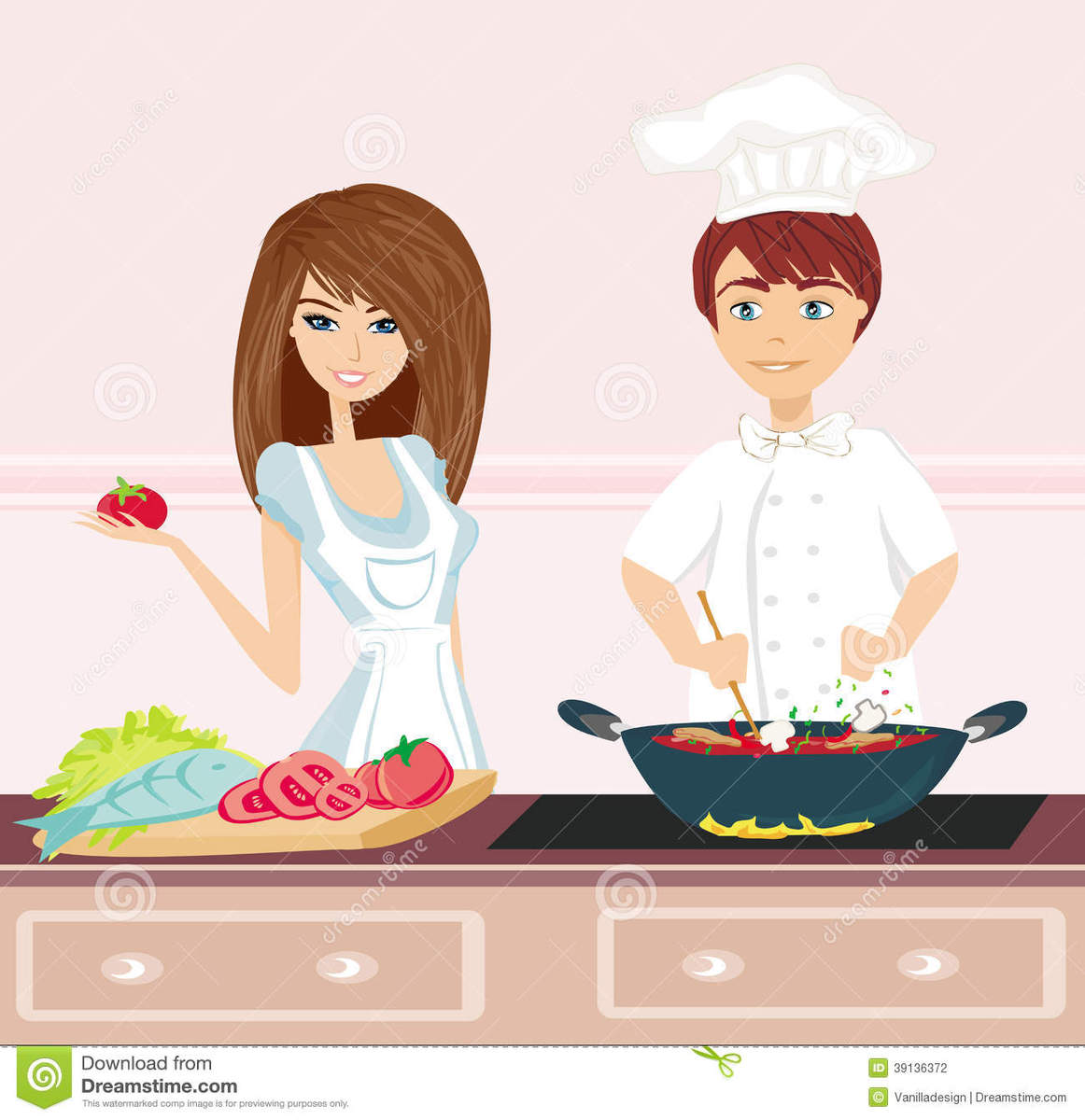 couple-cooking-dinner-illustration-39136372